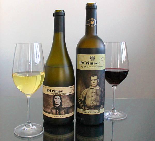 19 Crimes Red wine, 19 Crimes Chardonnay